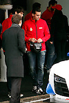Real Madrid Player Arbeloa and recives new Audi during the presentation of Real Madrid's new cars made by Audi at the Jarama racetrack on November 8, 2012 in Madrid, Spain.(ALTERPHOTOS/Harry S. Stamper)