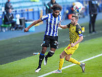 Sheffield Wednesday's Isaiah Brown battles with Watford's Tom Cleverley <br /> <br /> Photographer Alex Dodd/CameraSport<br /> <br /> The EFL Sky Bet Championship - Sheffield Wednesday v Watford - Saturday 19th September 2020 - Hillsborough Stadium - Sheffield <br /> <br /> World Copyright © 2020 CameraSport. All rights reserved. 43 Linden Ave. Countesthorpe. Leicester. England. LE8 5PG - Tel: +44 (0) 116 277 4147 - admin@camerasport.com - www.camerasport.com
