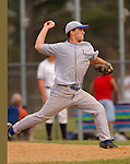 BURLINGTON, CT- 20 APRIL 2005-042005JS03-- Lewis Mills's Alex Hansen delivers a pitch during their game Wednesday against Shepaug at Lewis Mills High School in Burlington.  --- Jim Shannon Photo--Lewis Mills; Shepaug; Burlington; Alex Hansen  are CQ