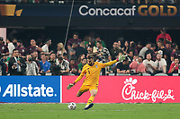 LAS VEGAS, NV - AUGUST 1: Matt Turner #1 of the United States during a game between Mexico and USMNT at Allegiant Stadium on August 1, 2021 in Las Vegas, Nevada.