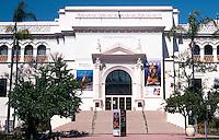 San Diego: Balboa Park, Natural History Museum, 1788 El Prado, 1933. Architect William Templeton Johnson. Spanish Romanesque style.