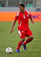 CARSON, CA - March 23, 2012: Juan De Gracia (8) of Panama during the Honduras vs Panama match at the Home Depot Center in Carson, California. Final score Honduras 3, Panama 1.