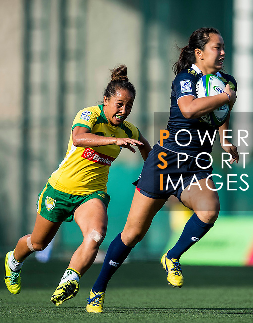 Brazil vs Japan during the Day 2 of the IRB Women's Sevens Qualifier 2014 at the Skek Kip Mei Stadium on September 13, 2014 in Hong Kong, China. Photo by Aitor Alcalde / Power Sport Images