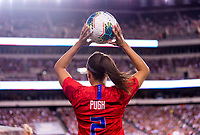 PHILADELPHIA, PA - AUGUST 29: Mallory Pugh #2 of the United States throws the ball in during a game between Portugal and the USWNT at Lincoln Financial Field on August 29, 2019 in Philadelphia, PA.