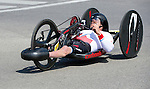 MILTON, ON, AUGUST 13, 2015. Cycling time trials, including Canadian Bronze Medallists  Charles Moreau.<br /> Photo: Dan Galbraith/Canadian Paralympic Committee