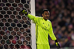 Goalkeeper Keylor Navas of Real Madrid in action during their La Liga match between Atletico de Madrid and Real Madrid at the Vicente Calderón Stadium on 19 November 2016 in Madrid, Spain. Photo by Diego Gonzalez Souto / Power Sport Images