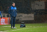 Dundee v St Johnstone…12.02.16   SPFL   Dens Park, Dundee<br />Dismal weather and a dismal result for Tommy Wright<br />Picture by Graeme Hart.<br />Copyright Perthshire Picture Agency<br />Tel: 01738 623350  Mobile: 07990 594431