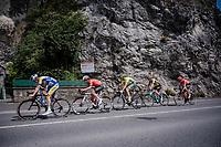 the breakaway group<br /> <br /> 83rd La Flèche Wallonne 2019 (1.UWT)<br /> One day race from Ans to Mur de Huy (BEL/195km)<br /> <br /> ©kramon