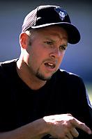 Brian Anderson of the Arizona Diamondbacks during a 2001 season MLB game at Dodger Stadium in Los Angeles, California. (Larry Goren/Four Seam Images)