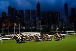 #3 Brett Prebble (2L) riding Star Majestic leads the race 1 during Hong Kong Racing at Happy Valley Racecourse on July 04, 2018 in Hong Kong, Hong Kong. Photo by Marcio Rodrigo Machado / Power Sport Images