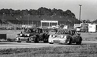 #9 Porsche 935 of  Bob Akin, Rob McFarlin, and Roy Woods, 52nd place, and # 89 Porsche of Joseph Hamilton, Rob Hoskins, and Herb Forrest, 35th place,   24 Hours of Daytona, Daytona International Speedway, Daytona Beach, FL, February 1979. (Photo by Brian Cleary/bcpix.com)