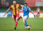 Partick Thistle v St Johnstone…28.10.17…  Firhill…  SPFL<br />Connor Sammon and Scott Tanser<br />Picture by Graeme Hart. <br />Copyright Perthshire Picture Agency<br />Tel: 01738 623350  Mobile: 07990 594431