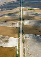 Farmland and road north of Limon, Colorado. July 2014