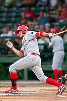 Derrick Mitchell of the Clearwater Threshers during the game against the Daytona Cubs July 5 2010 at Jackie Robinson Ballpark in Daytona Beach, Florida. Photo By Scott Jontes/Four Seam Images