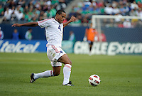 Cuba's Hanier Dranguet clears the ball.  El Salvador defeated Cuba 6-1 at the 2011 CONCACAF Gold Cup at Soldier Field in Chicago, IL on June 12, 2011.