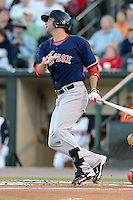 Pawtucket Red Sox outfielder Alex Hassan (21) during an International League playoff game against the Rochester Red Wings on September 5, 2013 at Frontier Field in Rochester, New York.  Pawtucket defeated Rochester 7-2.  (Mike Janes/Four Seam Images)