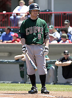 June 27, 2004:  Chris Duffy of the Altoona Curve, Double-A affiliate of the Pittsburgh Pirates, during a game at Jerry Uht Park in Erie, PA.  Photo by:  Mike Janes/Four Seam Images