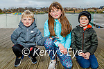 Enjoying the Tralee Bay Wetlands on Friday, l to r: Joey and Lexie O'Connor and Lucas Sugrue