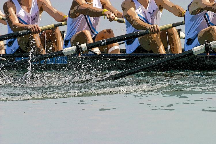 Rowers, San Diego Crew Classic, regatta competition, blur motion, Mission Bay, San Diego, California, USA,