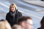 © Joel Goodman - 07973 332324 . 16/01/2014 . Salford , UK . HARRIET HARMAN MP for Camberwell and Peckham , arrives at the funeral . The funeral of Labour MP Paul Goggins at Salford Cathedral today (Thursday 16th January 2014) . The MP for Wythenshawe and Sale East died aged 60 on 7th January 2014 after collapsing whilst out running on 30th December 2013 . Photo credit : Joel Goodman