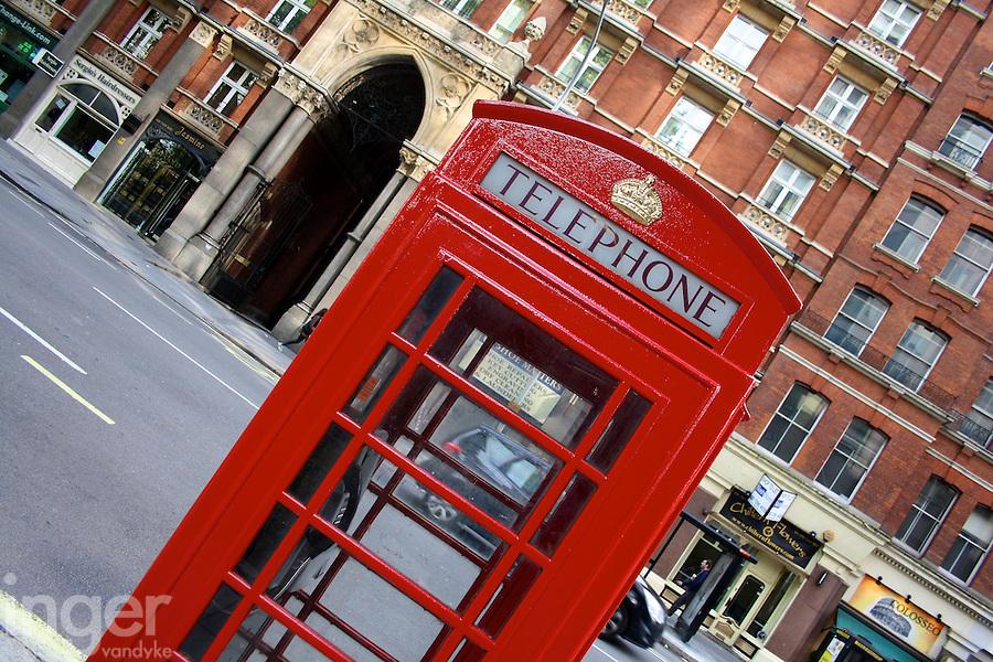 Red Phone Box in London, United Kingdom