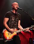 Mark Sheehan, guitarist for the Irish rock back 'The Script' performs at the Mann Music Center in Philadelphia, Pennsylvania June 3, 2011..Copyright EML/Rockinexposures.com.