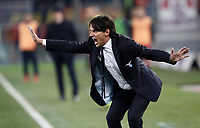 Calcio, Serie A: Lazio - Genoa, Roma, Stadio Olimpico, 5 Febbraio 2018. <br /> Lazio's coach Simone Inzaghi speaks to his players during the Italian Serie A football match between Lazio and Genoa at Rome's Stadio Olimpico, February 5, 2018.<br /> UPDATE IMAGES PRESS/Isabella Bonotto