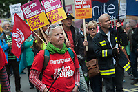 Justice for Grenfell demo in central London 15-6-19