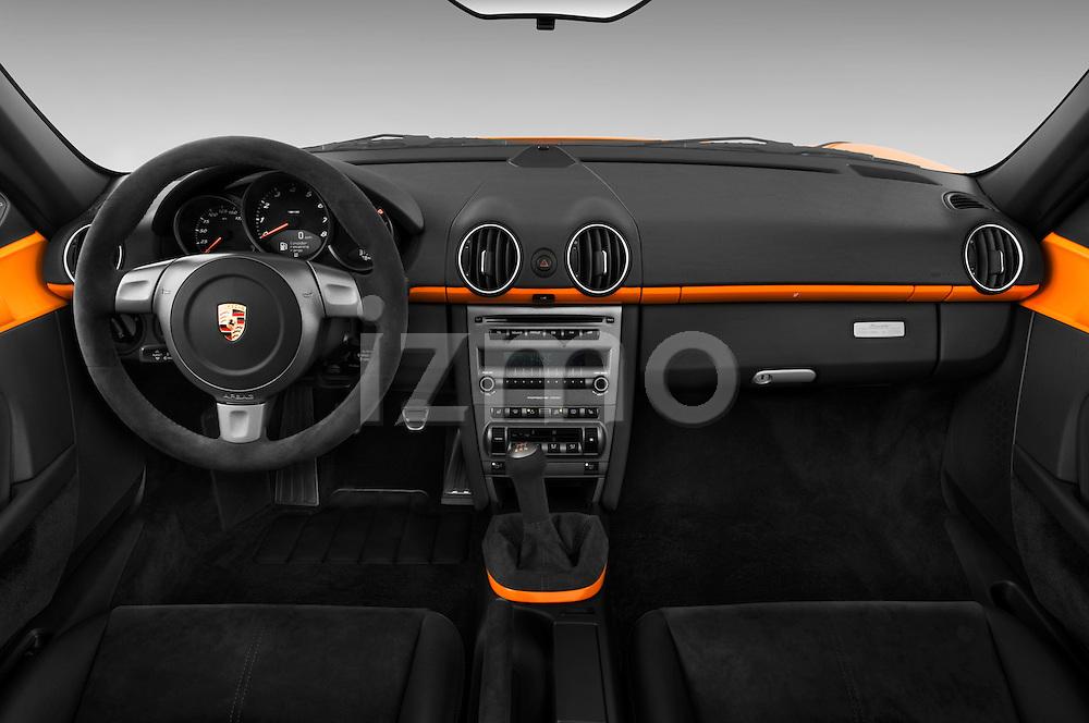 Straight dashboard view of a 2008 Porsche Boxster LE