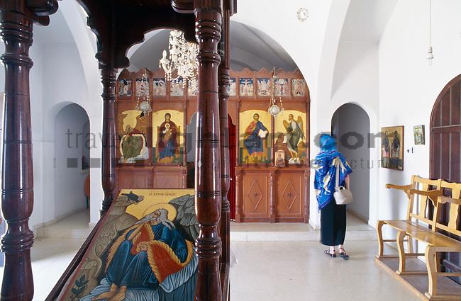 Interior,  Protaras, Monte Elias Chapel, Cyprus, Zypern.