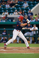 Clearwater Threshers Herlis Rodriguez (1) bats during the Florida State League All-Star Game on June 17, 2017 at Joker Marchant Stadium in Lakeland, Florida.  FSL North All-Stars defeated the FSL South All-Stars  5-2.  (Mike Janes/Four Seam Images)