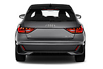 Straight rear view of 2019 Audi A1-Sportback S-Line 5 Door Hatchback Rear View  stock images