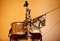 Knight and horse in suit of armor