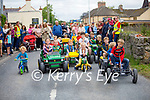 Ready for road at the kids race at the Abbeydorney Vintage tractor run on Sunday.