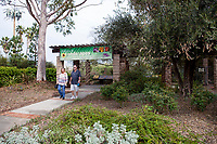 Visitors to demonstration garden by Western Municipal Water District, Riverside California