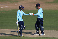 Aron Nijjar (L) and Simon Harmer of Essex during Hampshire Hawks vs Essex Eagles, Royal London One-Day Cup Cricket at The Ageas Bowl on 22nd July 2021