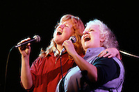 Holly Near and Ronnie Gilbert formerly of the Weavers at the Berklee Performance Center April 11, 1983