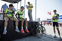 Team WB Veranclassic Aqua Protect waiting for their team presentation pre-race<br /> <br /> 92th Schaal Sels 2017
