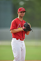 St. Louis Cardinals pitcher Jimmy Reed (16) during practice before a Minor League Spring Training game against the New York Mets on March 31, 2016 at Roger Dean Sports Complex in Jupiter, Florida.  (Mike Janes/Four Seam Images)