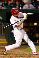 Ryan Jackson (23) of the Springfield Cardinals tries to make contact on a pitch during a game against the Northwest Arkansas Naturals at Hammons Field on August 1, 2011 in Springfield, Missouri. Springfield defeated Northwest Arkansas 7-1. (David Welker / Four Seam Images)