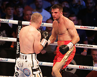 9th October 2021; M&S Bank Arena, Liverpool, England; Matchroom Boxing, Liam Smith versus Anthony Fowler; LIAM SMITH (Liverpool, England) v ANTHONY FOWLER (Liverpool, England) during their WBA International Super-Welterweight Title contest