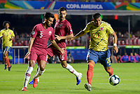 SAO PAULO ??? BRASIL, 19-06-2019: Colombia y Catar en partido de la Copa América Brasil 2019, grupo B, jugado en el Estadio Morumbí de Sao Paulo, Brasil. / Colombia and Qatar in Copa America Brazil 2019 group B match between Colombia and Qatar played at Morumbi stadium in Sao Paulo, Brazil. Photos: VizzorImage / Julian Medina / Contribuidor