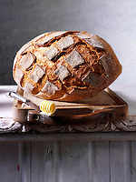 Artisan organic wholemeal  bread loaf