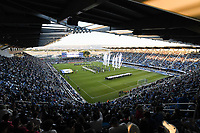 SAN JOSE, CA - JUNE 26: Frontline workers are honored during halftime during a game between Los Angeles Galaxy and San Jose Earthquakes at PayPal Park on June 26, 2021 in San Jose, California.