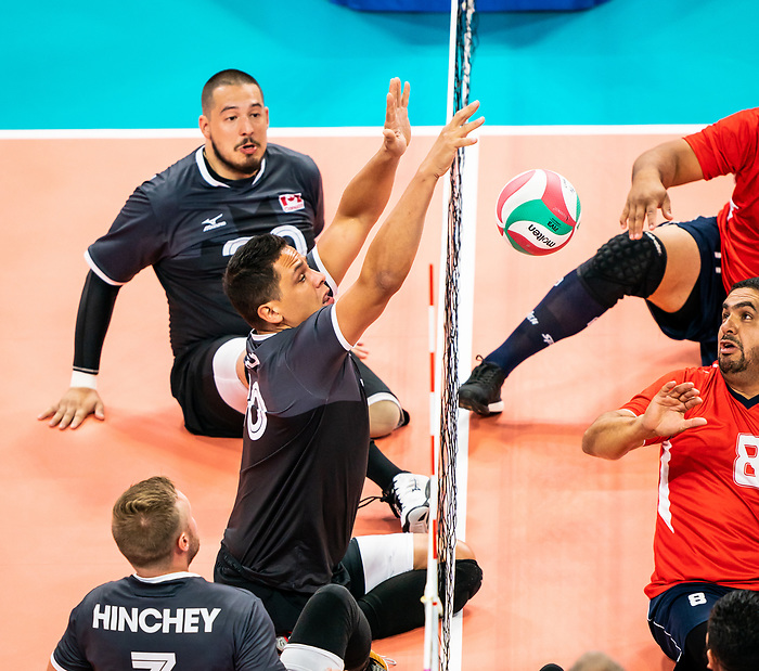 Chris Bird, Lima 2019 - Sitting Volleyball // Volleyball assis.<br /> Canada competes in men's Sitting Volleyball // Canada participe au volleyball assis masculin. 25/08/2019.
