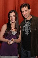 "JILLIAN MURRAY & PAUL ALESSI.""Knuckle Draggers"" Movie Wrap Party at Shag, Hollywood, California, USA, 14 December 2007..half length.CAP/ADM/BP.©Byron Purvis/AdMedia/Capital Pictures."