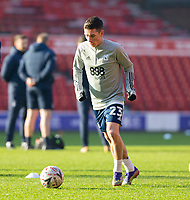 9th January 2021; City Ground, Nottinghamshire, Midlands, England; English FA Cup Football, Nottingham Forest versus Cardiff City; Harry Wilson of Cardiff City during the warm up