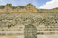 Pre-hispanic town of Uxmal in Yucatan, Mexico, shows the splendor of Mayan Civilization. Built in AD 700 hosted more than 20,000 habitants.