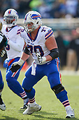 Buffalo Bills center Eric Wood (70) blocks during an NFL Wild-Card football game against the Jacksonville Jaguars, Sunday, January 7, 2018, in Jacksonville, Fla.  (Mike Janes Photography)