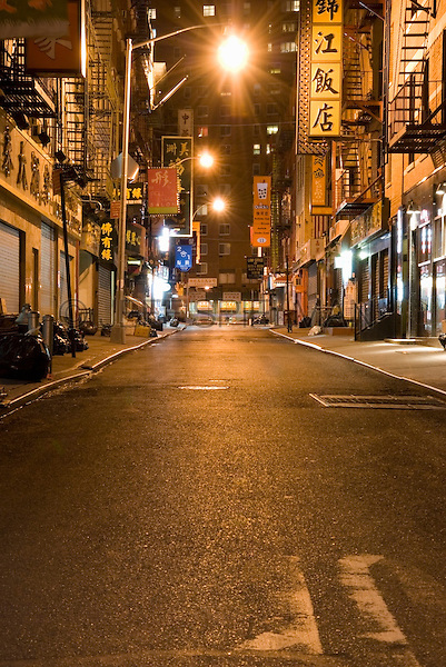 AVAILABLE FROM JEFF AS A FINE ART PRINT.<br /> <br /> AVAILABLE FOR COMMERCIAL AND EDITORIAL LICENSING FROM PLAINPICTURE.  Please go to www.plainpicture.com and search for image # p5690112.<br /> <br /> Street Scene at Night in Chinatown, New York City, New York State, USA